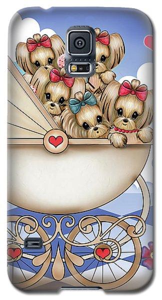 Yorkie Babies Strolling  Galaxy S5 Case