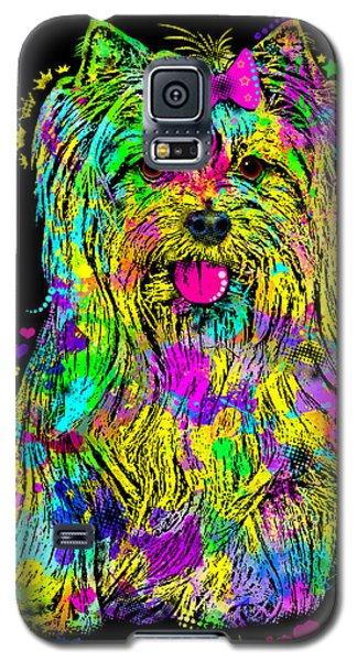 Yorkie Beauty Galaxy S5 Case by Zaira Dzhaubaeva