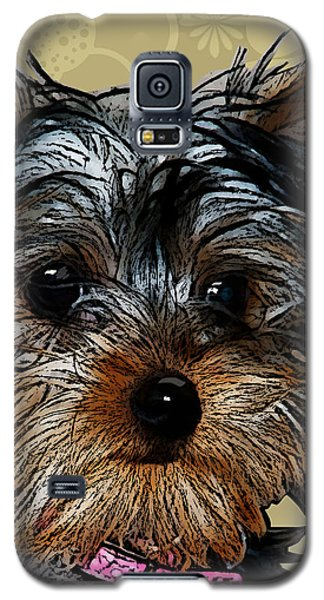 Yorkie In Beige Galaxy S5 Case