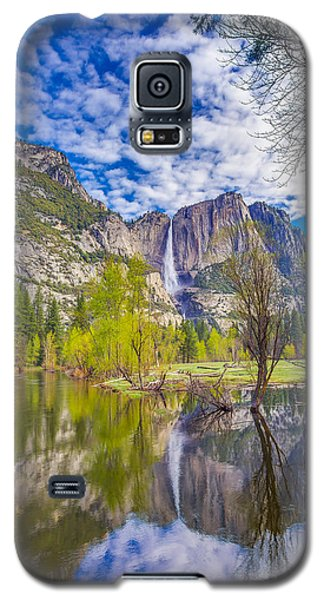 Galaxy S5 Case featuring the photograph Yosemite Falls In Spring Reflection by Scott McGuire