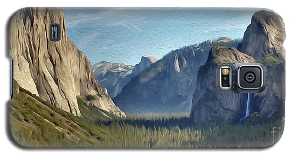 Yosemite Falls Galaxy S5 Case by Walter Colvin