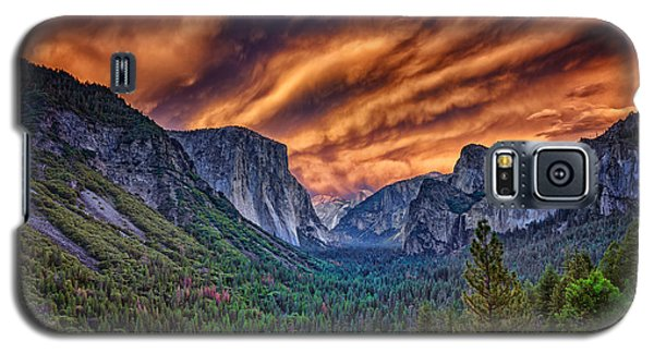 Yosemite Fire Galaxy S5 Case by Rick Berk