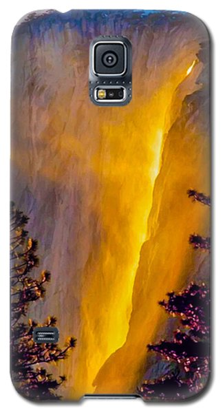 Yosemite Firefall Painting Galaxy S5 Case