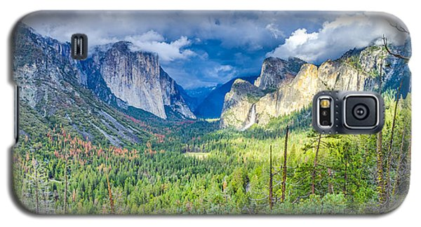 Galaxy S5 Case featuring the photograph Yosemite Tunnel View Spring Storm by Scott McGuire