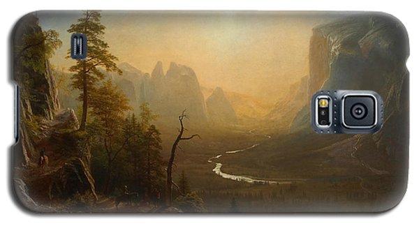 Yosemite Valley Glacier Point Trail Galaxy S5 Case by Albert Bierstadt