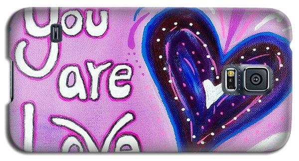 You Are Love Purple Heart Galaxy S5 Case