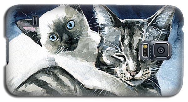 You Are Mine - Cat Painting Galaxy S5 Case