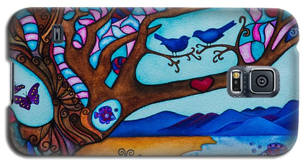 Galaxy S5 Case featuring the painting Love Is All Around Us by Lori Miller
