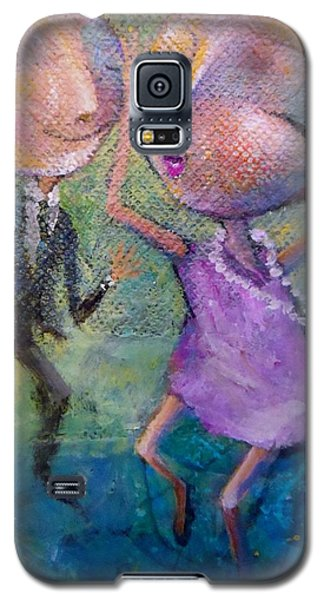 Galaxy S5 Case featuring the painting You Make Me Wanna Dance by Eleatta Diver