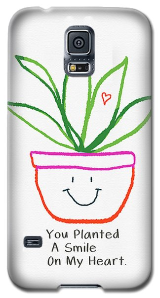 Galaxy S5 Case featuring the mixed media You Planted A Smile- Art By Linda Woods by Linda Woods