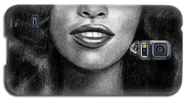 Young Chaka Khan - Charcoal Art Drawing Galaxy S5 Case