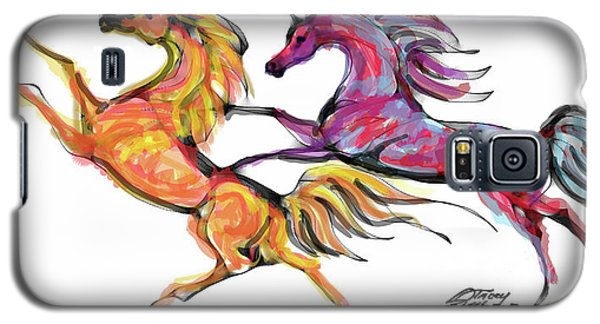 Young Horses Playing Galaxy S5 Case
