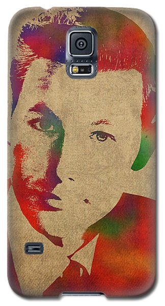 Johnny Carson Galaxy S5 Case - Young Johnny Carson Watercolor Portrait by Design Turnpike