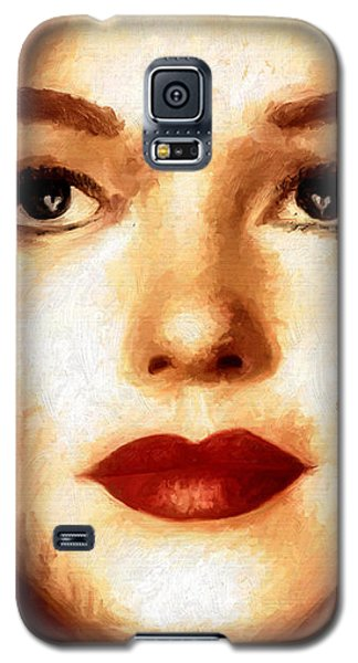 Galaxy S5 Case featuring the painting Young M by James Shepherd