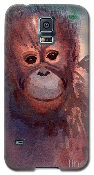 Young Orangutan Galaxy S5 Case by Donald Maier