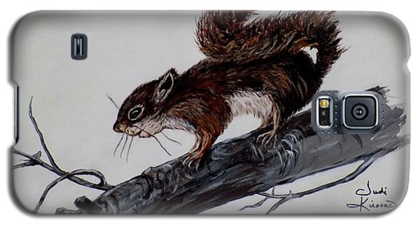 Galaxy S5 Case featuring the painting Young Squirrel by Judy Kirouac