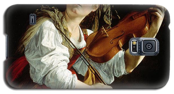 Violin Galaxy S5 Case - Young Woman With A Violin by Orazio Gentileschi