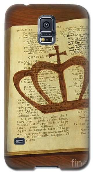 Galaxy S5 Case featuring the painting Your God Reigns by Jennifer Watson