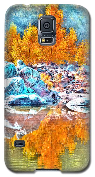 Galaxy S5 Case featuring the photograph Yuba River Fall Reflection by William Havle
