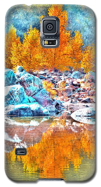Yuba River Fall Reflection Galaxy S5 Case by William Havle