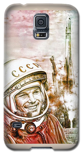 Yuri Gagarin - Cosmonaut 1961 Watercolor Galaxy S5 Case