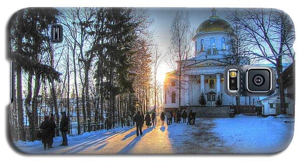 Yury Bashkin Russian Church In Winter Galaxy S5 Case by Yury Bashkin