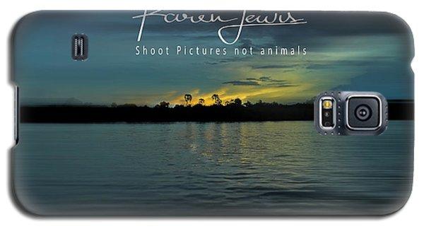 Galaxy S5 Case featuring the photograph Zambezi Sunset by Karen Lewis