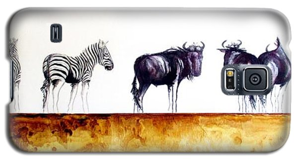 Zebra And Wildebeest Galaxy S5 Case