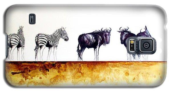 Zebra And Wildebeest Galaxy S5 Case