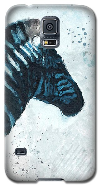 Zebra- Art By Linda Woods Galaxy S5 Case by Linda Woods