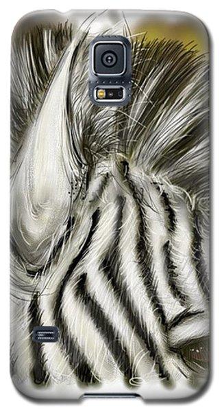 Galaxy S5 Case featuring the digital art Zebra Digital by Darren Cannell