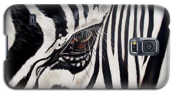Wildlife Galaxy S5 Case - Zebra Eye by Ilse Kleyn