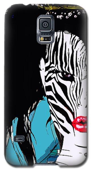 Zebra Girl Pop Art Galaxy S5 Case