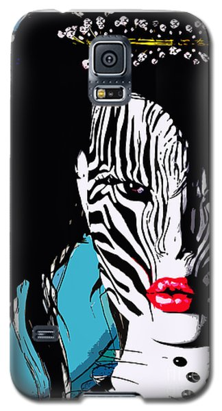 Zebra Girl Pop Art Galaxy S5 Case