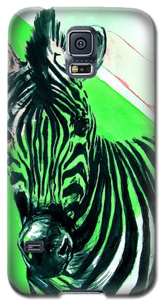 Zebra In Green Galaxy S5 Case
