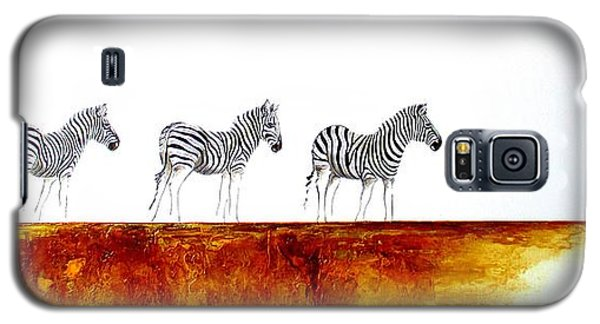 Zebra Landscape - Original Artwork Galaxy S5 Case