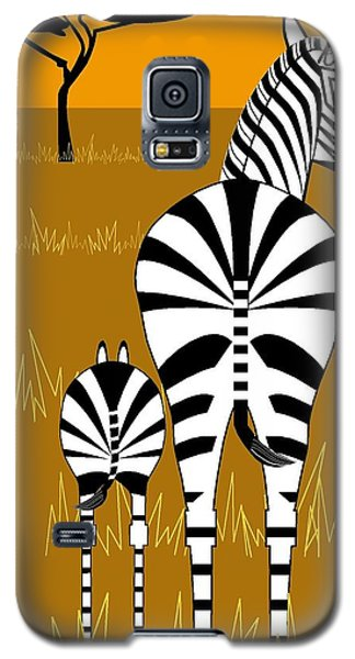 Zebra Mare With Baby Galaxy S5 Case
