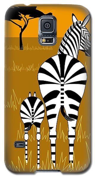 Zebra Mare With Baby Galaxy S5 Case
