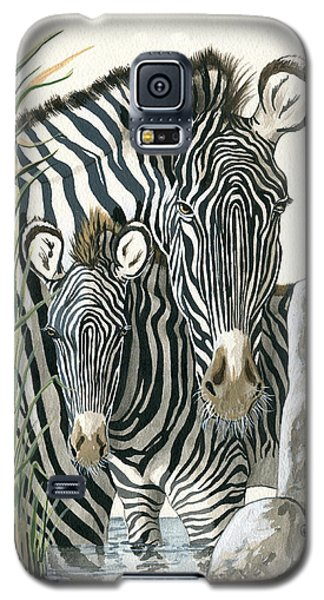 Zebra Mother And Colt Protect Our Children Painting Galaxy S5 Case