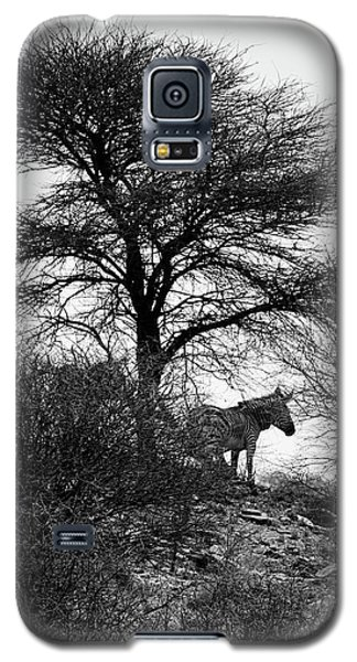 Galaxy S5 Case featuring the photograph Zebra On A Hill  by Ernie Echols
