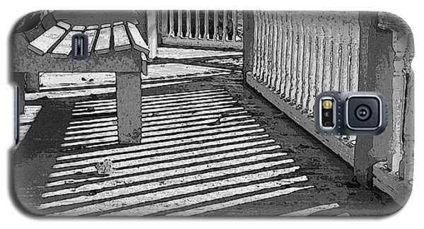 Galaxy S5 Case featuring the photograph Zebra Porch by Betsy Zimmerli