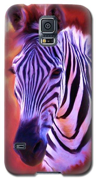 Zebra Portrait Galaxy S5 Case