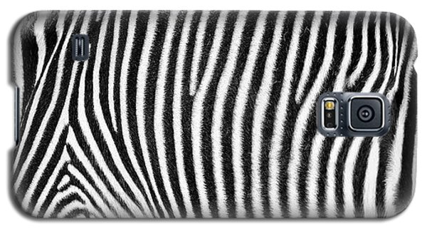 Zebra Print Black And White Horizontal Crop Galaxy S5 Case