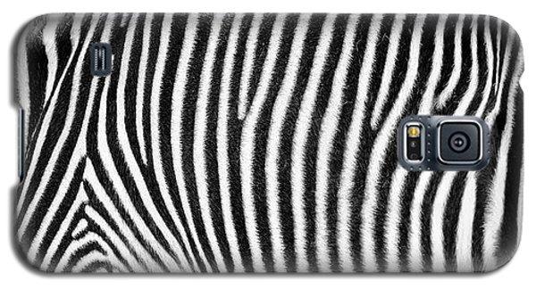 Zebra Print Black And White Horizontal Crop Galaxy S5 Case