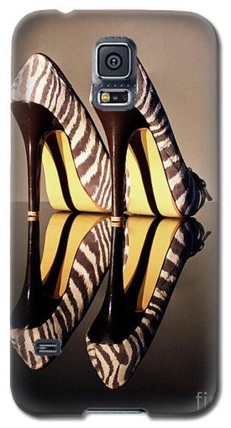 Galaxy S5 Case featuring the photograph Zebra Print Stiletto by Terri Waters