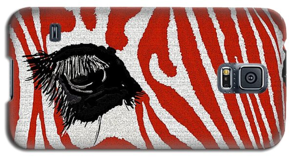 Zebra Red Galaxy S5 Case