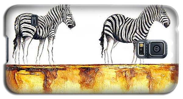 Zebra Trio - Original Artwork Galaxy S5 Case
