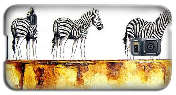 Zebra Trio - Original Artwork Galaxy S5 Case
