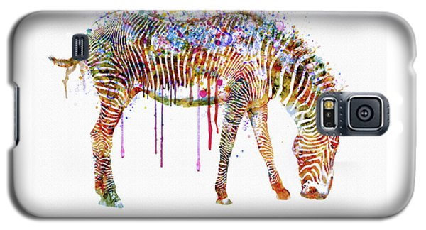 Zebra Watercolor Painting Galaxy S5 Case by Marian Voicu