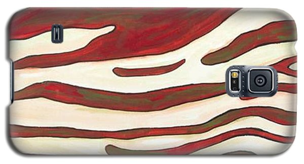 Galaxy S5 Case featuring the painting Zebra Zone - Color On White by Sheron Petrie